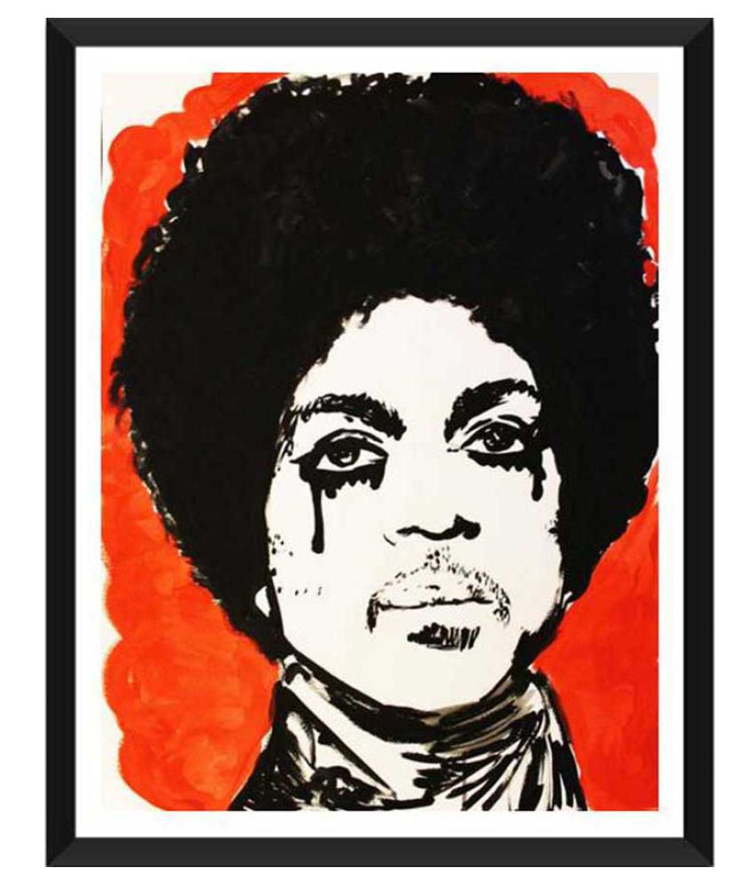Tallenge RIP Prince Paper Art Prints With Frame Single Piece