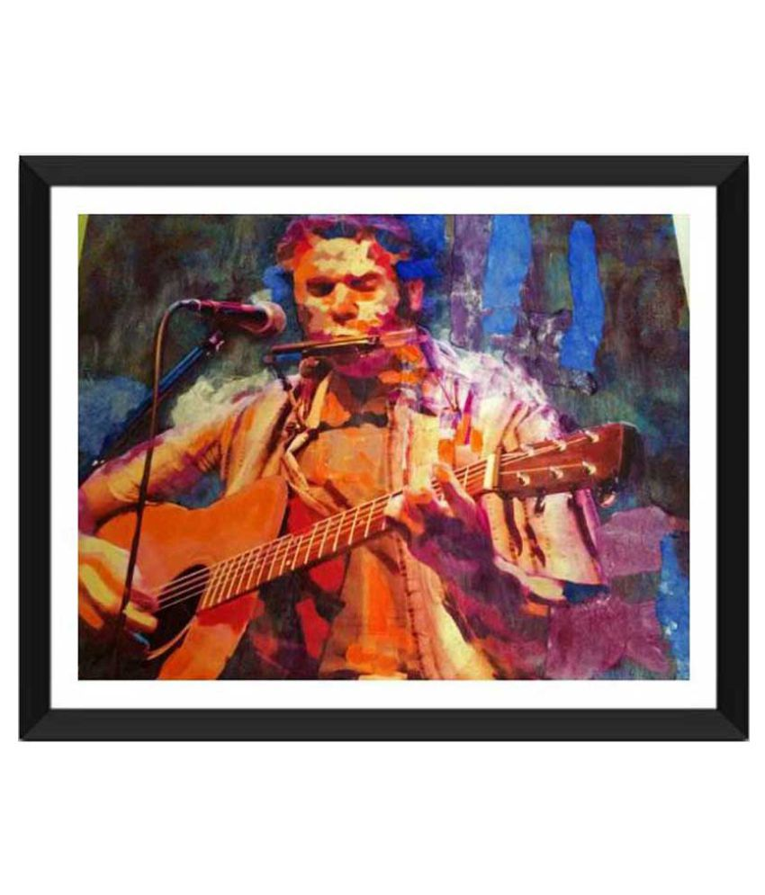 Tallenge The Musician Paper Art Prints With Frame Single Piece