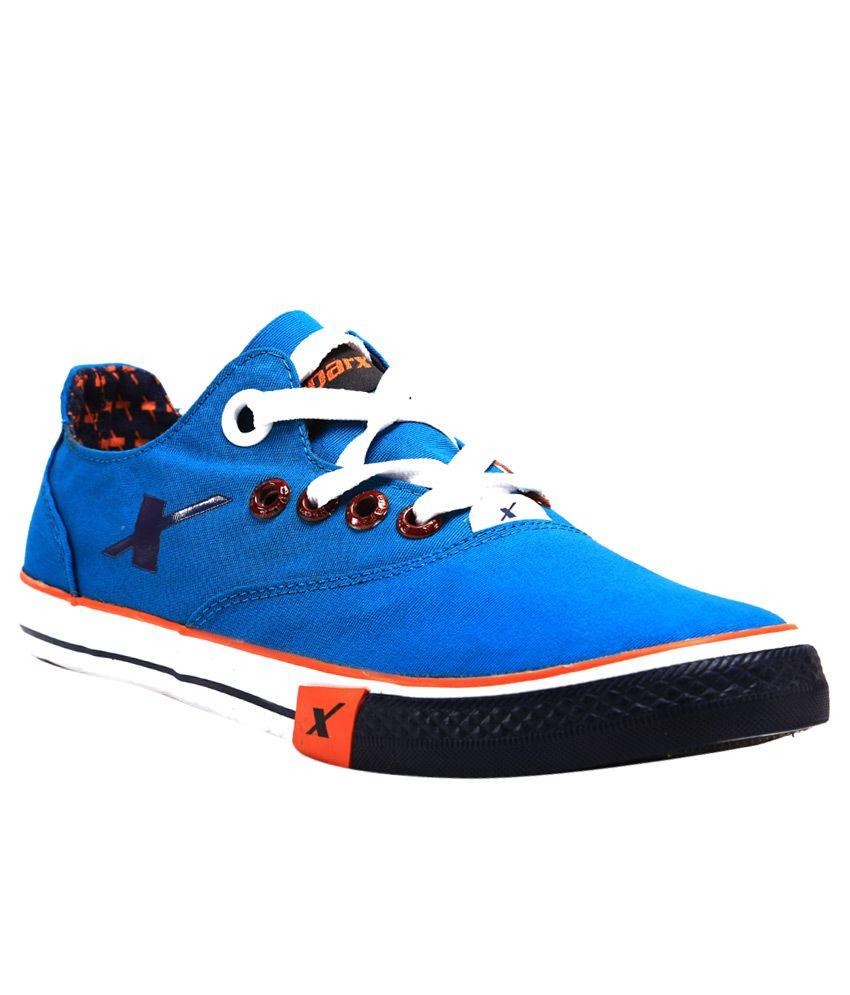 Sparx SC0192G Blue Canvas Casual Shoes