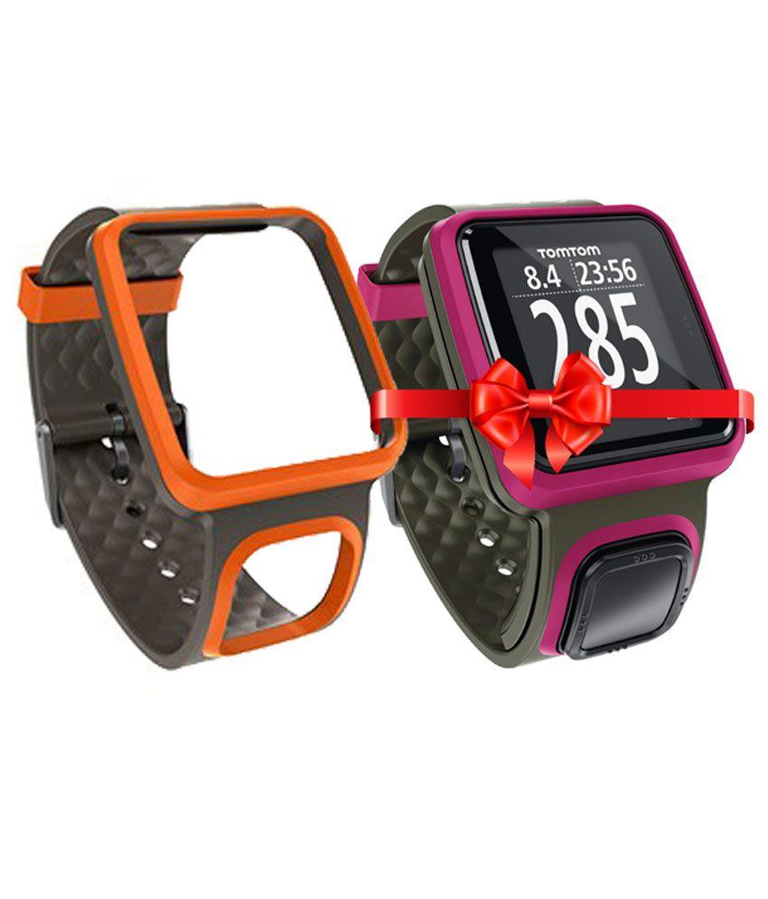 TomTom Runner GPS Sport Watch (Dark Pink) + interchangeable band worth Rs 1500 free