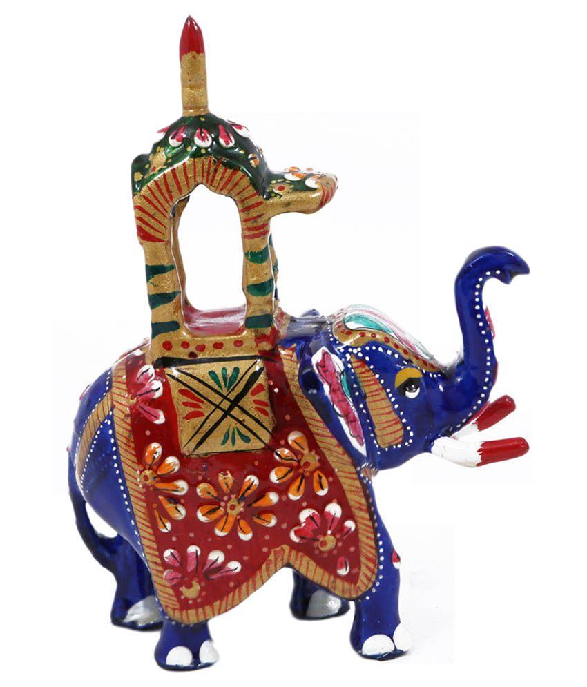 Creative Craft Metal Meenakari Elephant Handicraft Gift