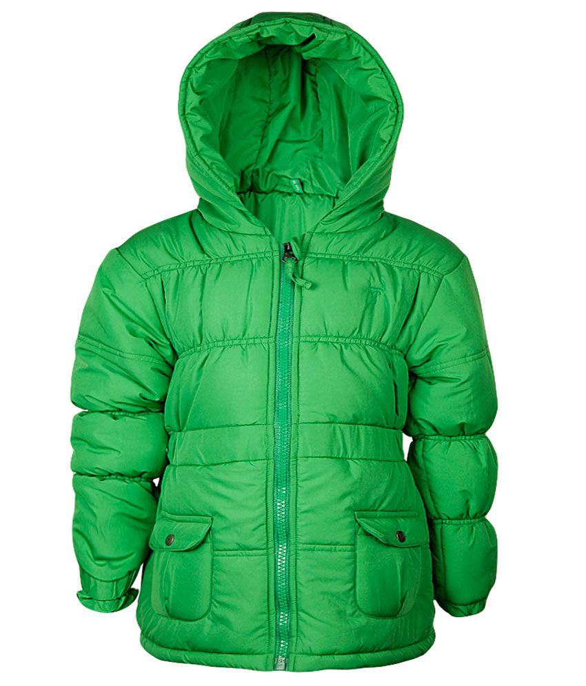 Gini & Jony Green Full Sleeves With Hood Jacket
