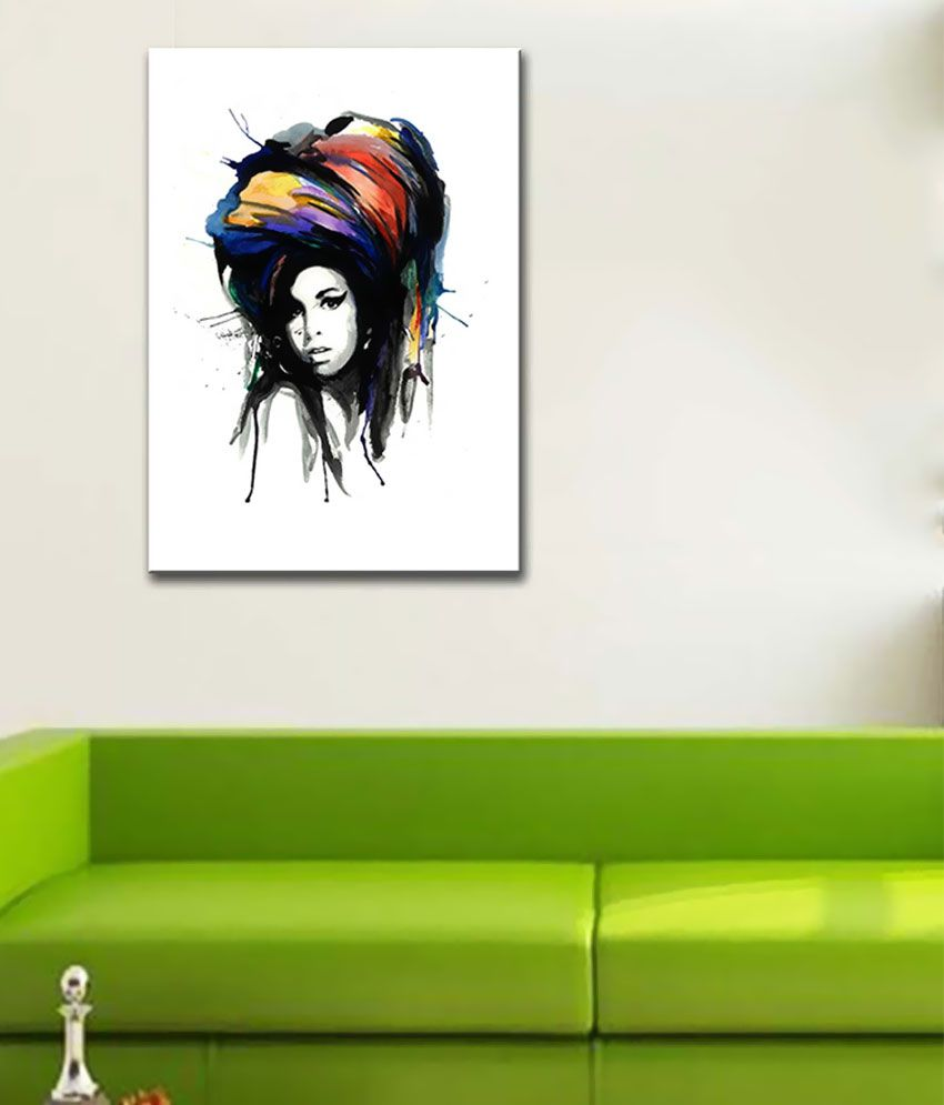 Tallenge Amy Winehouse Art Canvas Art Prints With Frame Single Piece