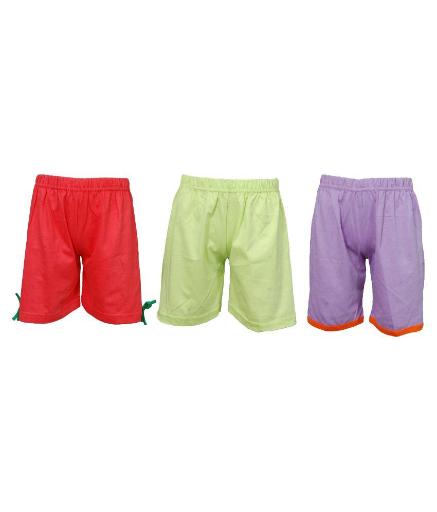 Little Stars Multicoloured Cotton Bermudas (Pack of 3)