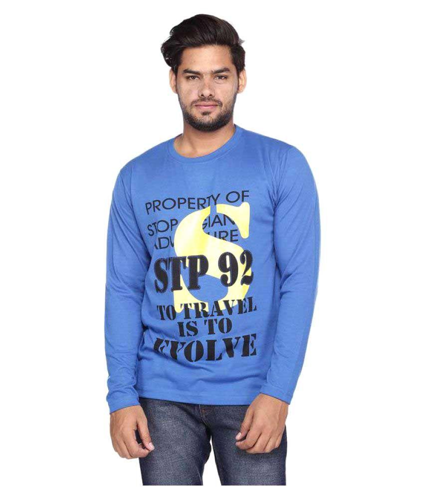 Vishal Mega Mart Blue Round T-Shirt