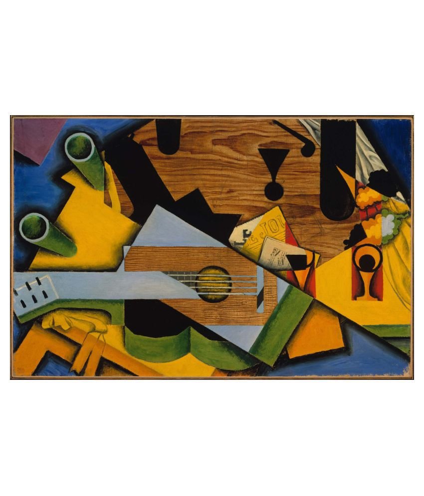 Tallenge Still Life With A Guitar Gallery Wrap Canvas Art Prints With Frame Single Piece