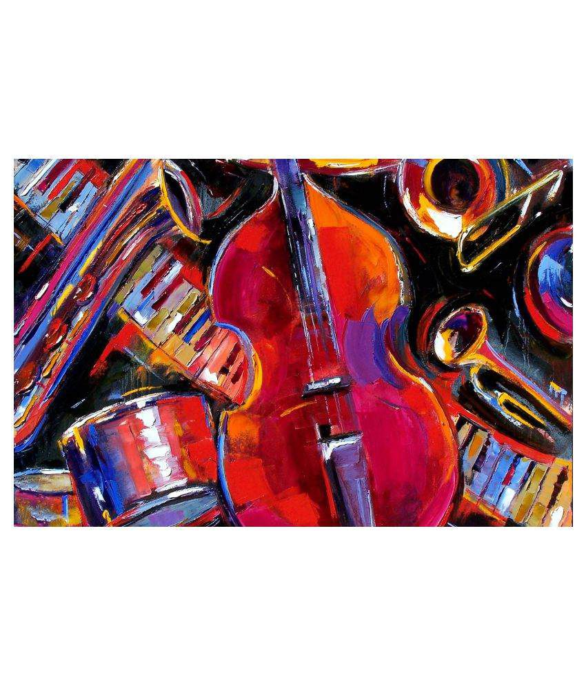 Tallenge Lets Get The Music Started Gallery Wrap Canvas Art Prints With Frame Single Piece