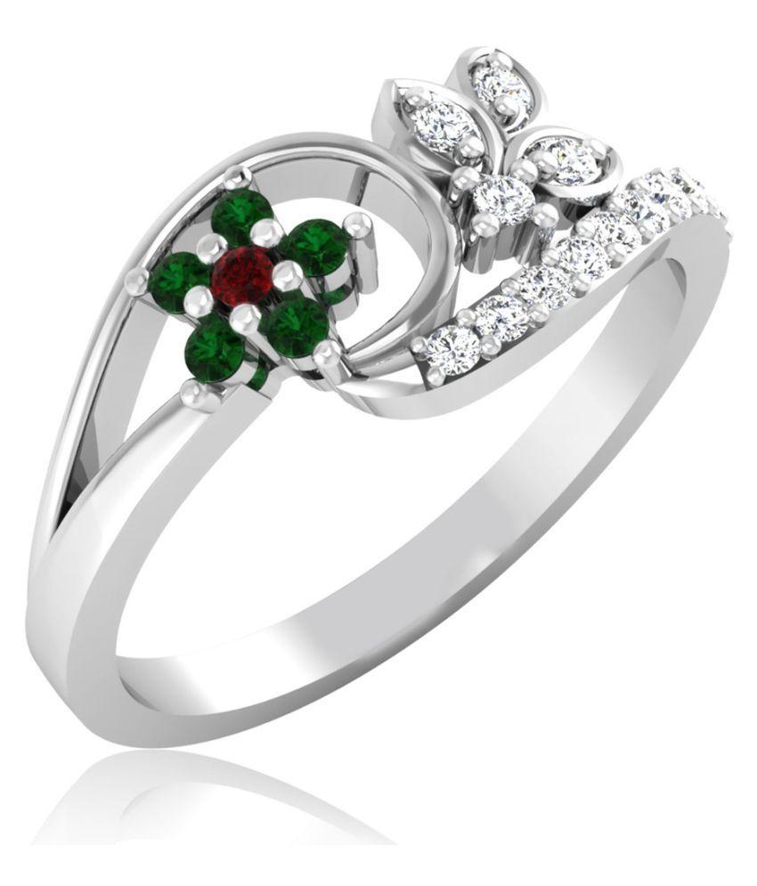 Carat Forever 18k White Gold Ruby Ring