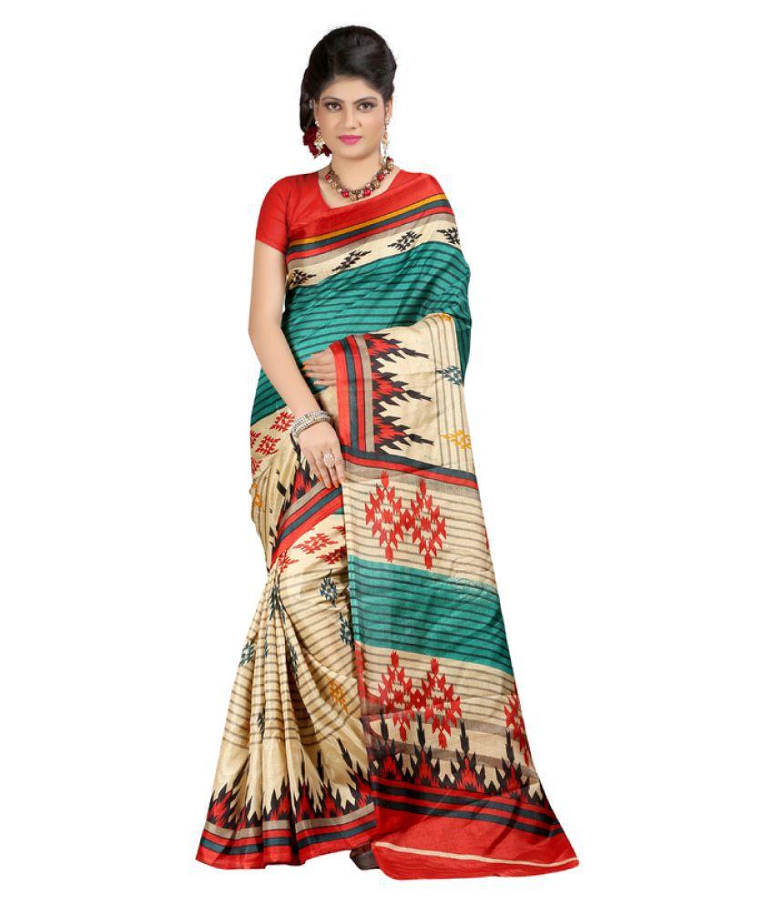 Manvaa Multicoloured Bhagalpuri Silk Saree