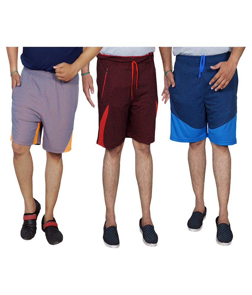 Meebaw Multi Shorts Pack of 3