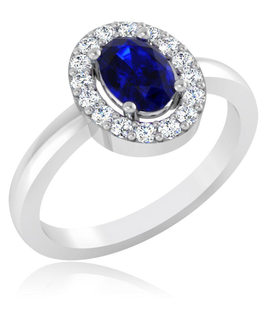 Carat Forever 18k White Gold Sapphire Ring