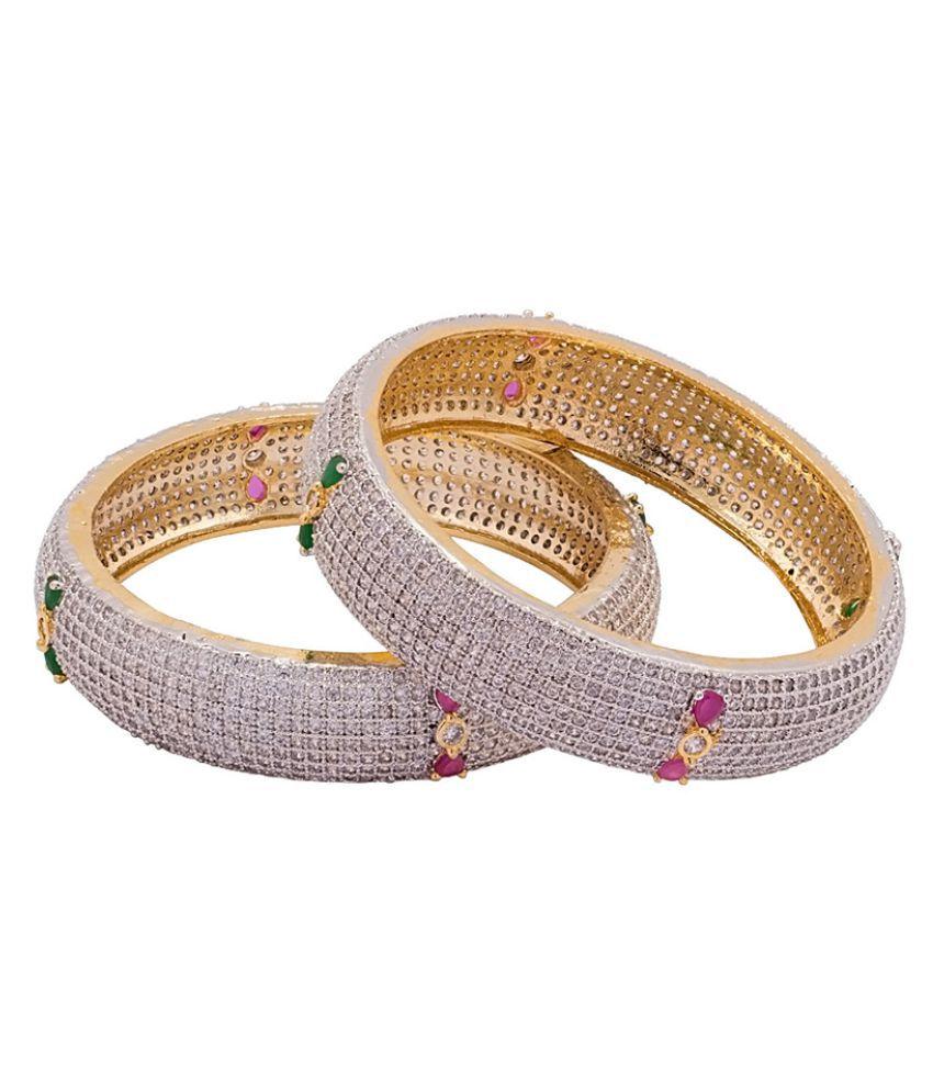 Voylla Multicolour Alloy Bracelet Combo - Pack of 2