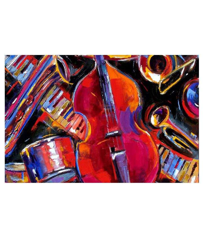 Tallenge Lets Get The Music Started Rolled Canvas Art Prints Without Frame Single Piece