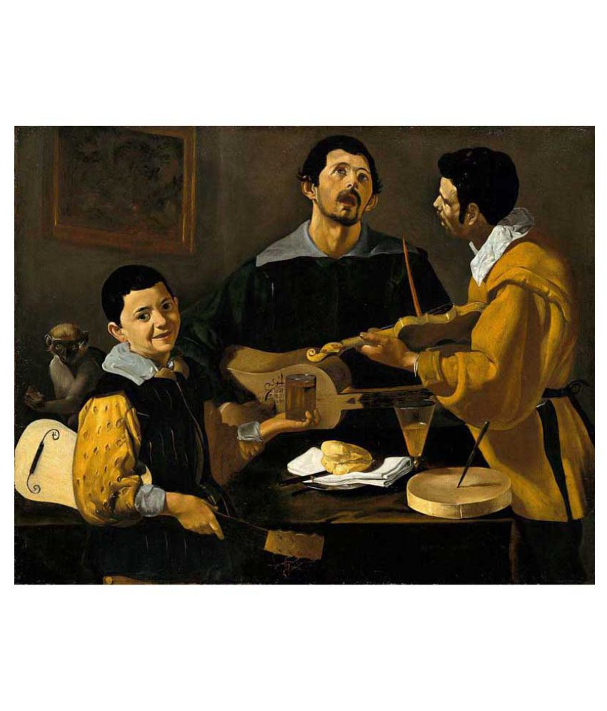 Tallenge The Three Musicians Rolled Canvas Art Prints Without Frame Single Piece