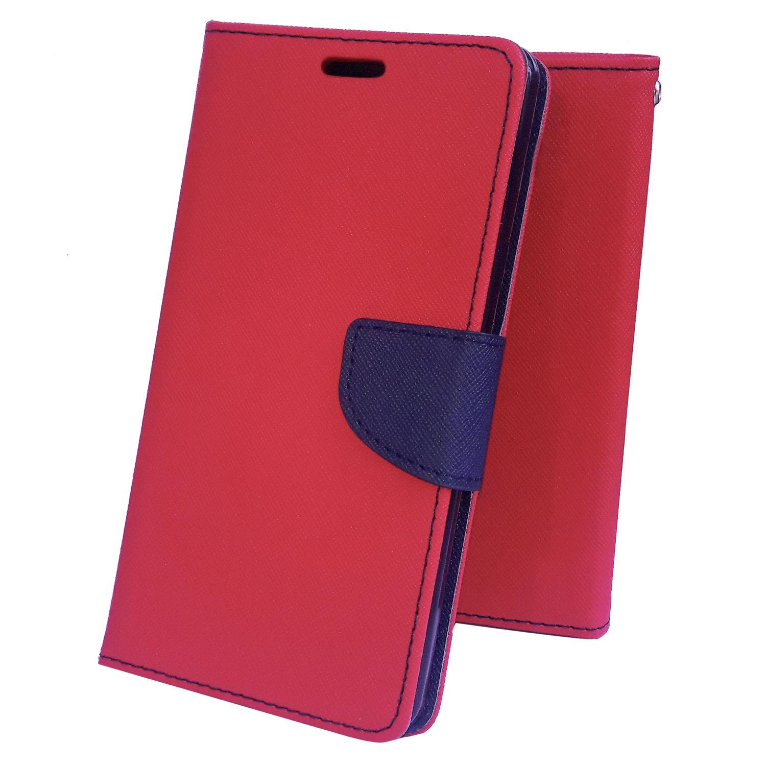 Samsung Galaxy Grand 2 Flip Cover by Moblo - Red