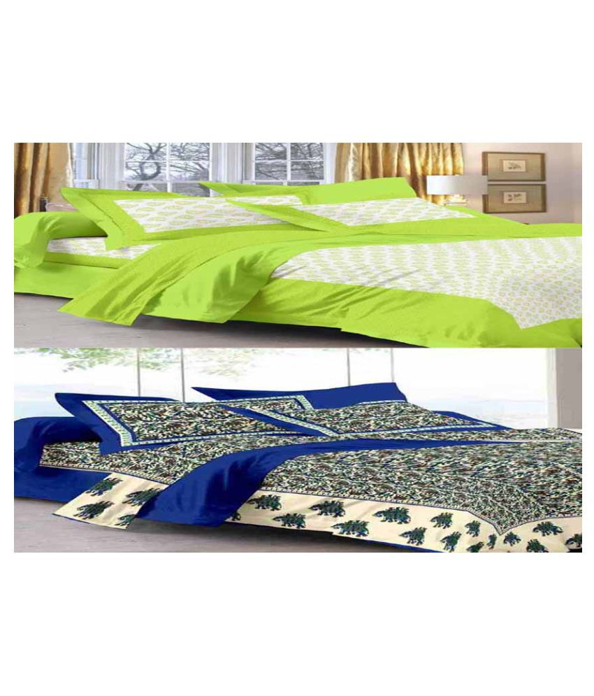Bombay Spreads King Cotton Printed Bed Sheet