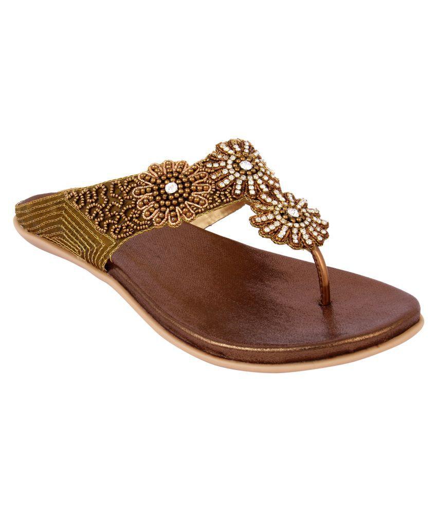 Keco Brown Flat Heels