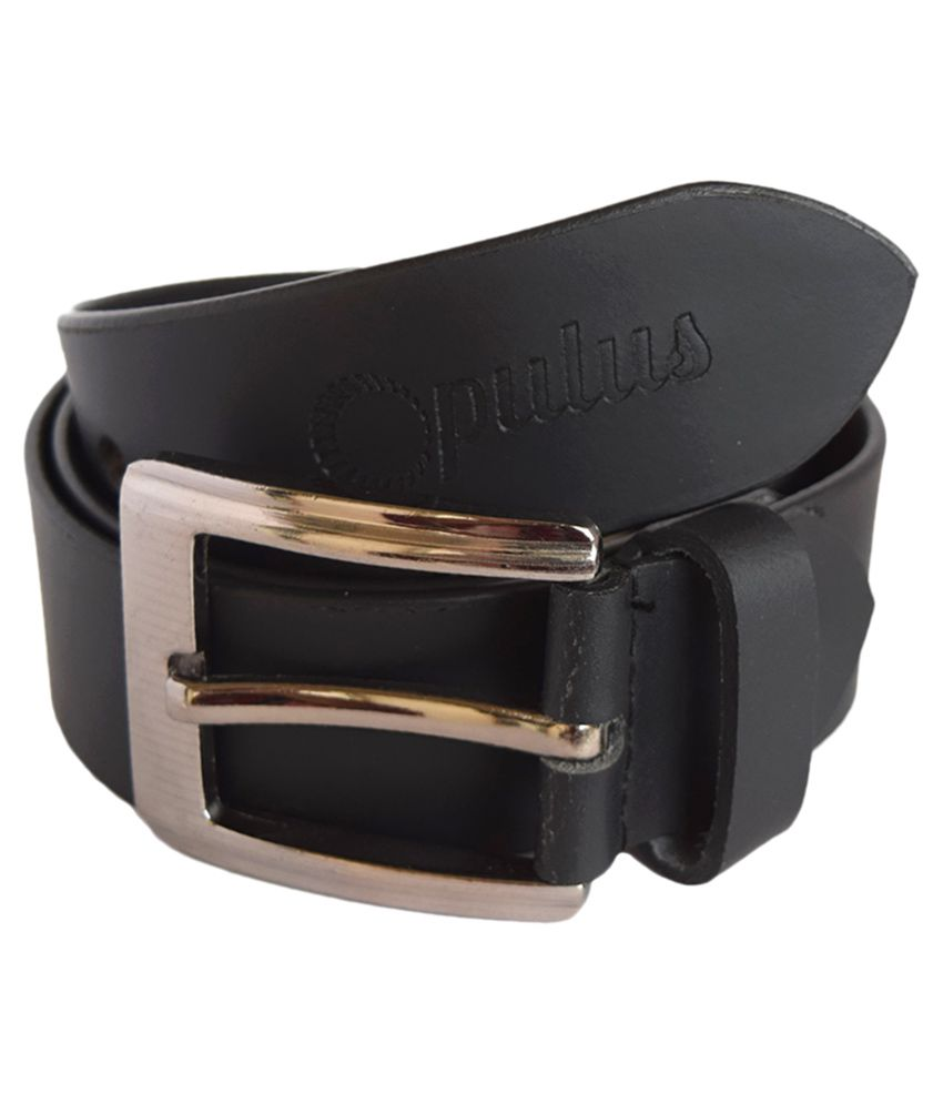 Opulus Black Leather Formal Belts