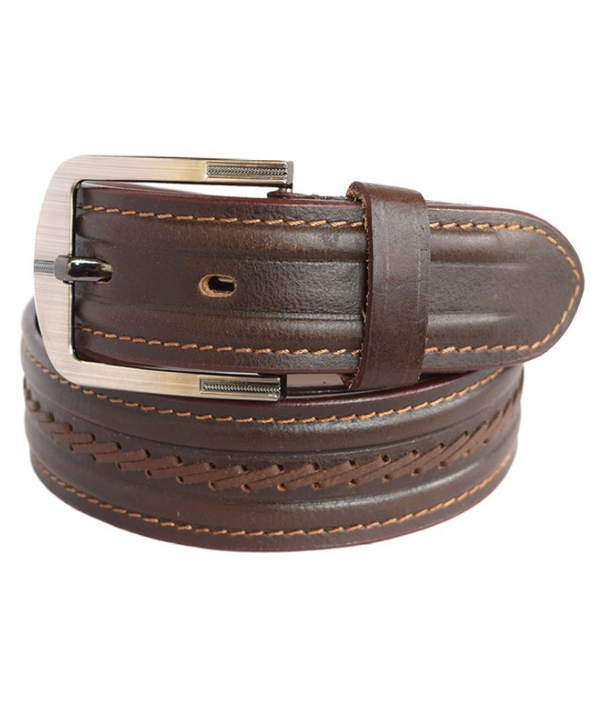 Opulus Brown Leather Casual Belts