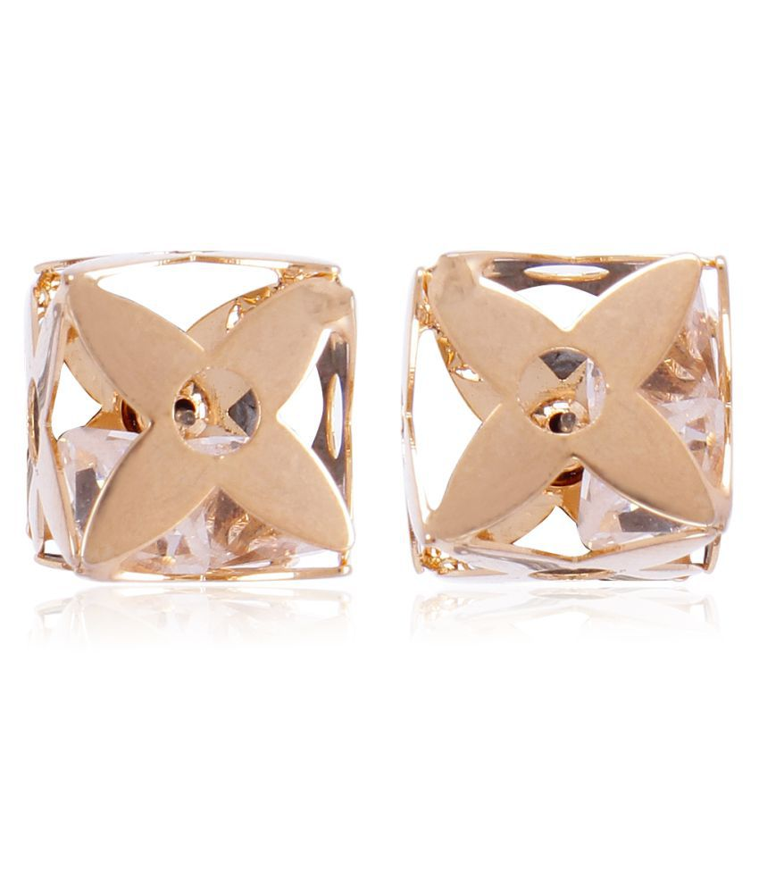 Faryal Rose Gold Stud Earrings
