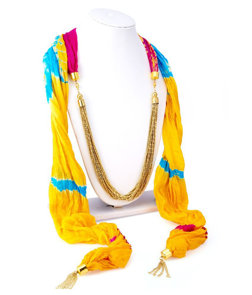 Sukkhi Golden Alloy Necklace for Women