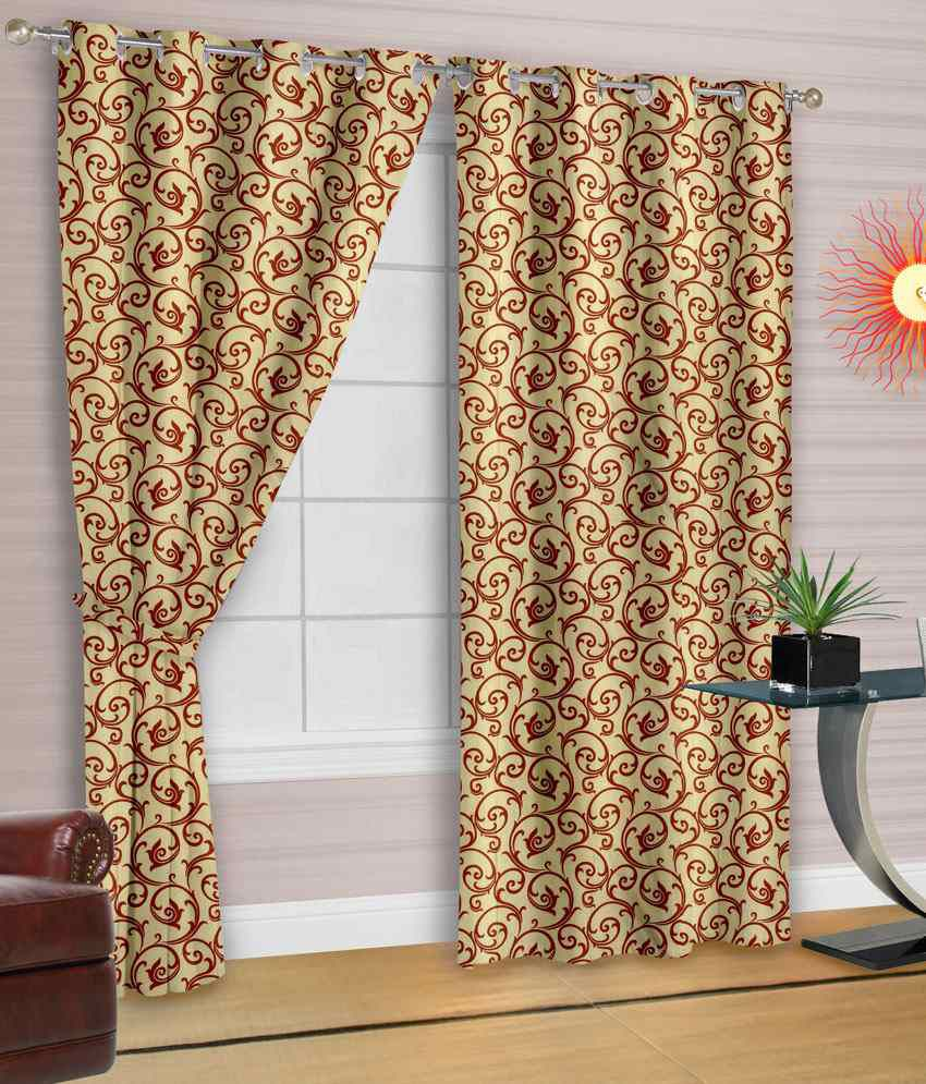 Cortina Single Window Eyelet Curtain Contemporary White Snapdeal Price Curtains Accessories