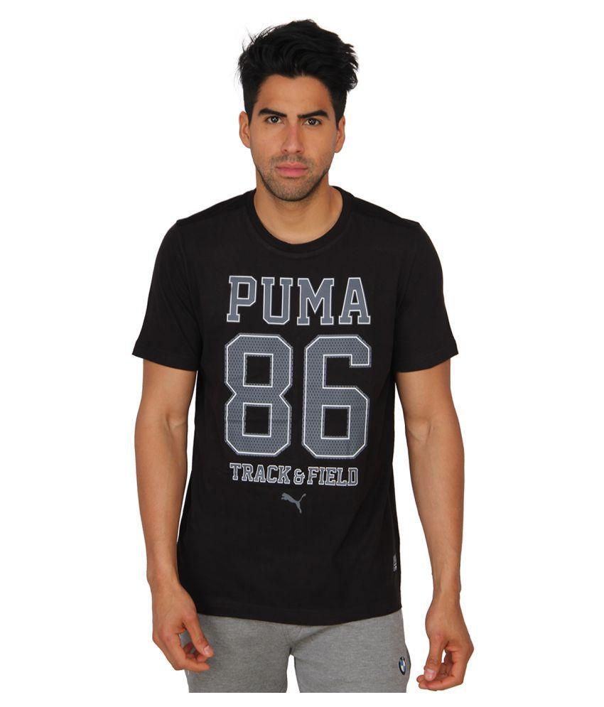 Puma Black Cotton T-Shirt