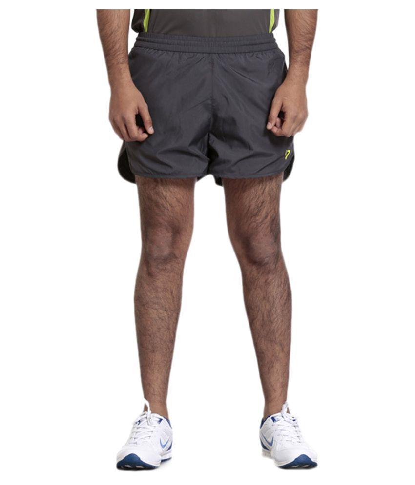 Seven Black Polyster Men Shorts - Black