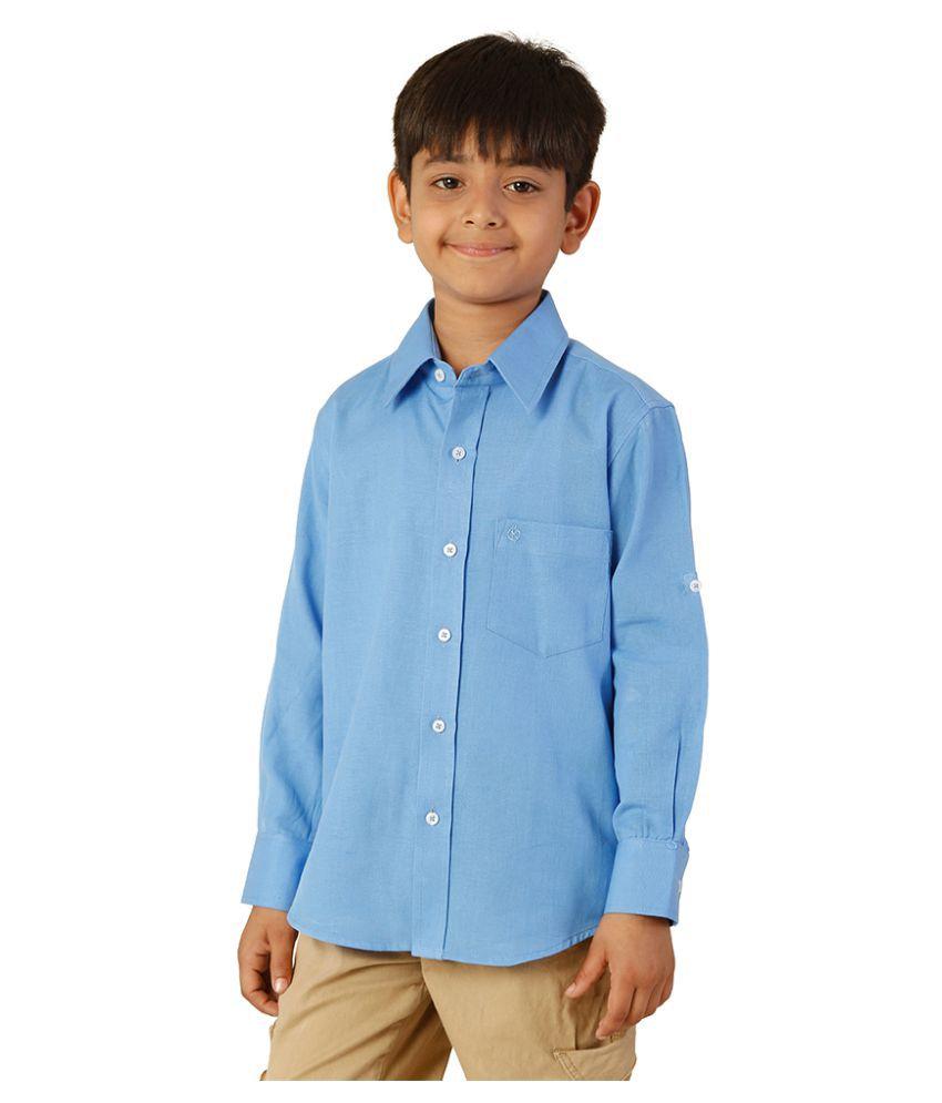 Oxolloxo Blue Cotton Shirt Buy Oxolloxo Blue Cotton