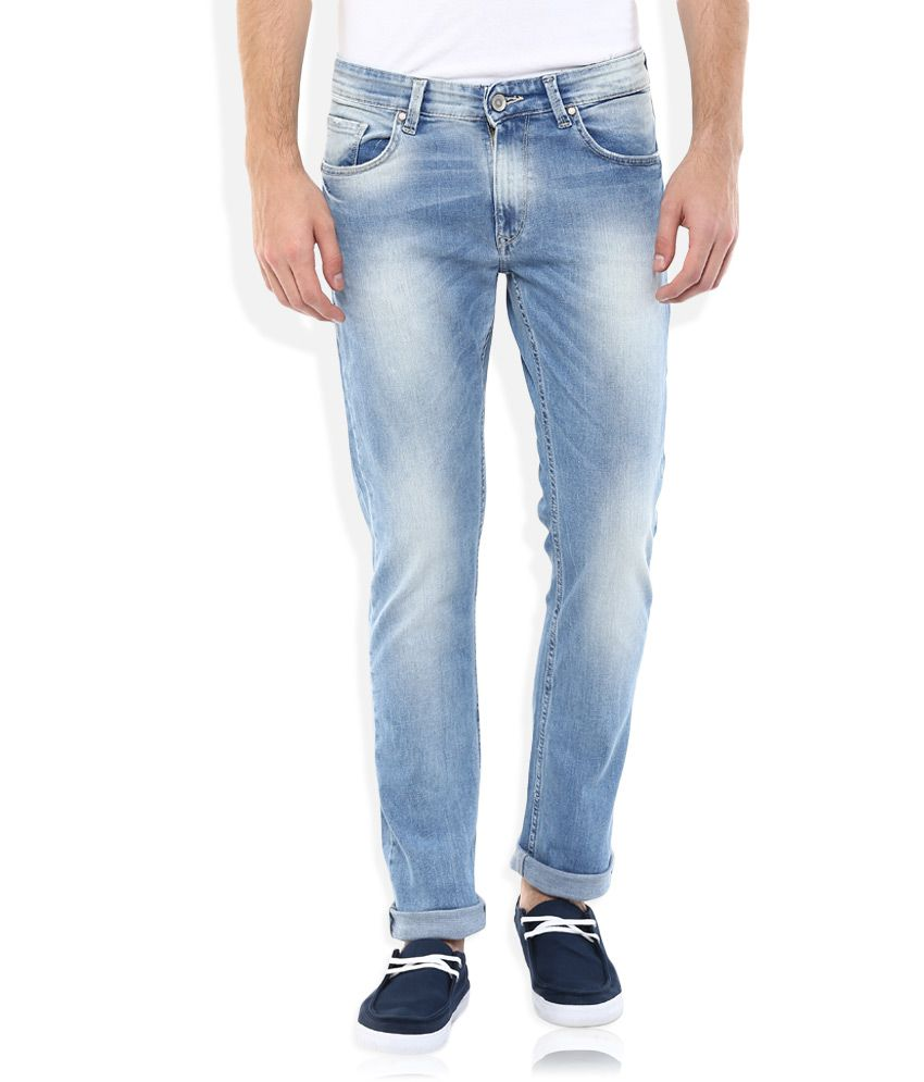 Spykar Blue Low Rise Rico Tapered Fit Jeans