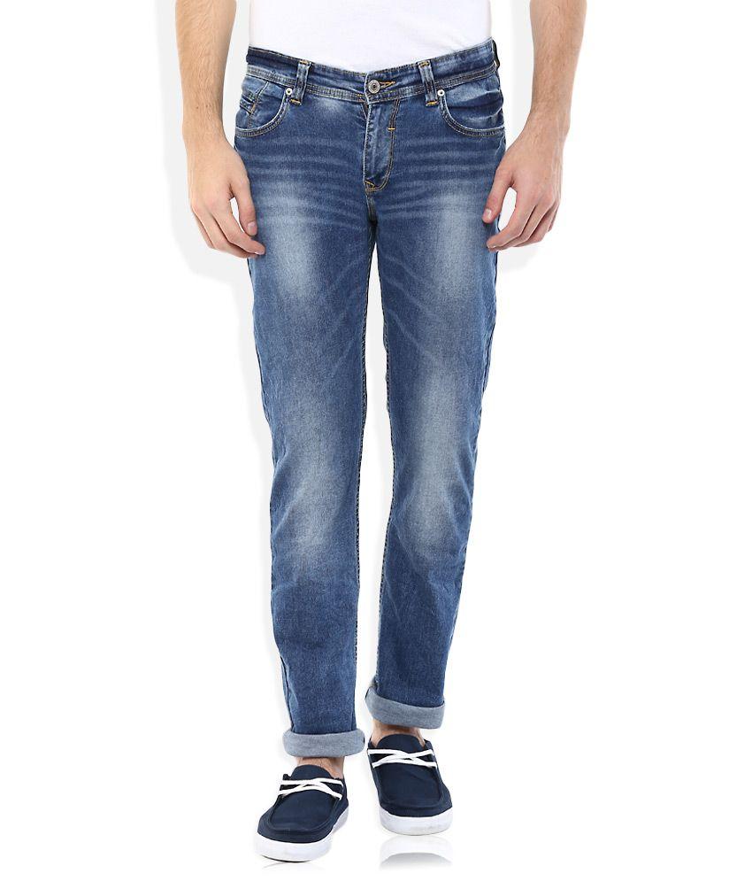 Spykar Blue Low Rise Skinny Fit Jeans