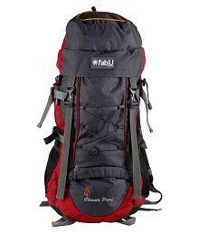 Fab U Design 45-60 litre Red Hiking Bag