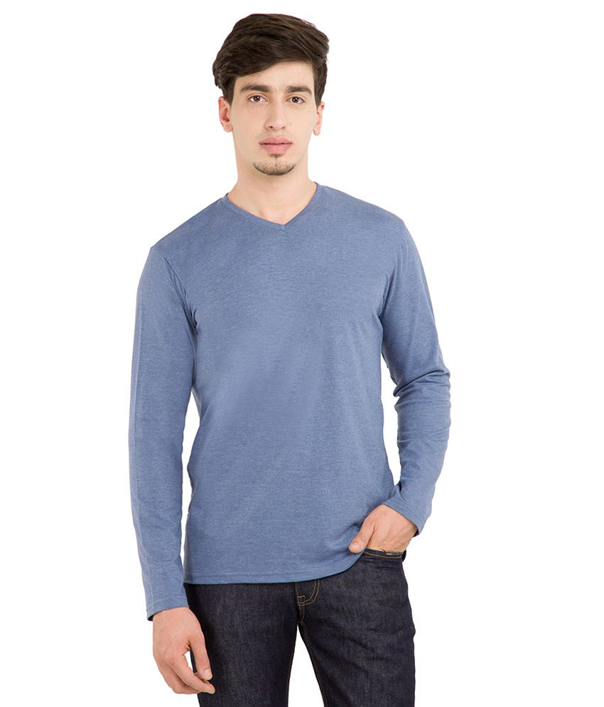 Highlander Blue V-Neck T Shirt