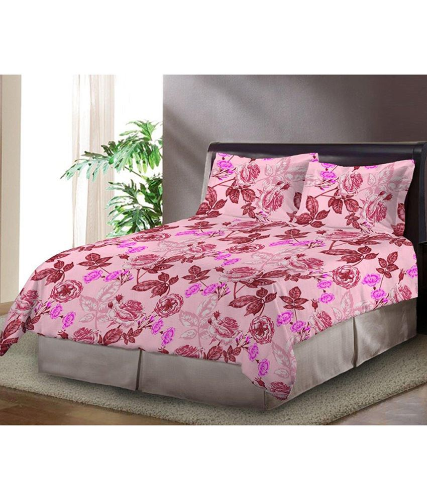 Bombay Dyeing Aria Double Cotton Floral Bed Sheet