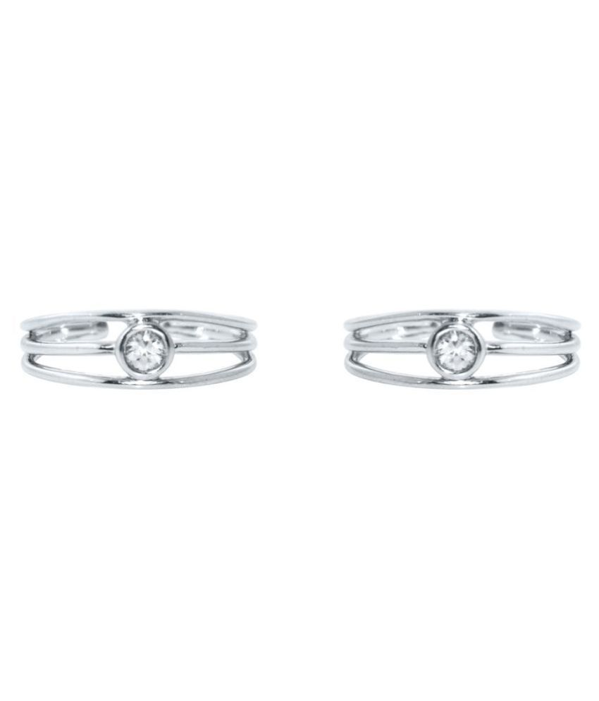 Silver Dew Silver Toe Rings