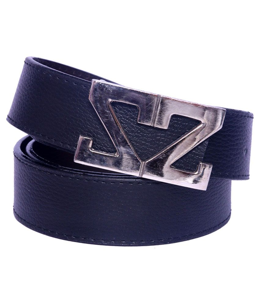 Daller Navy Faux Leather Formal Belts