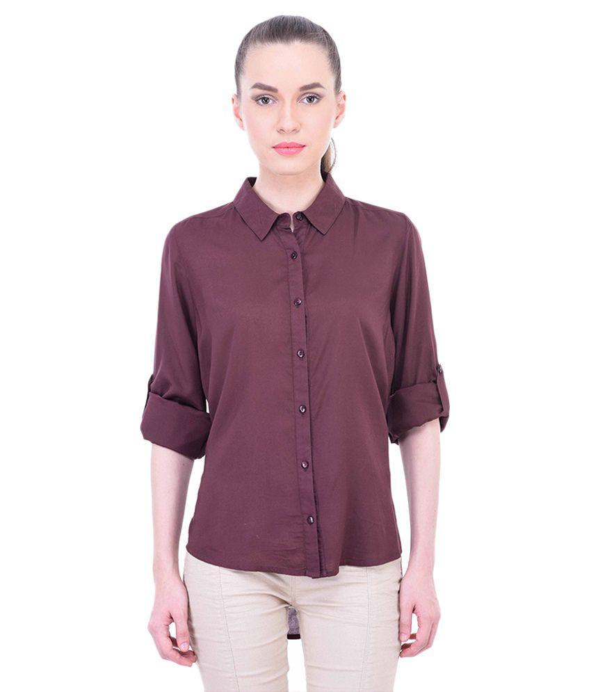 Oxolloxo Brown Viscose Shirt
