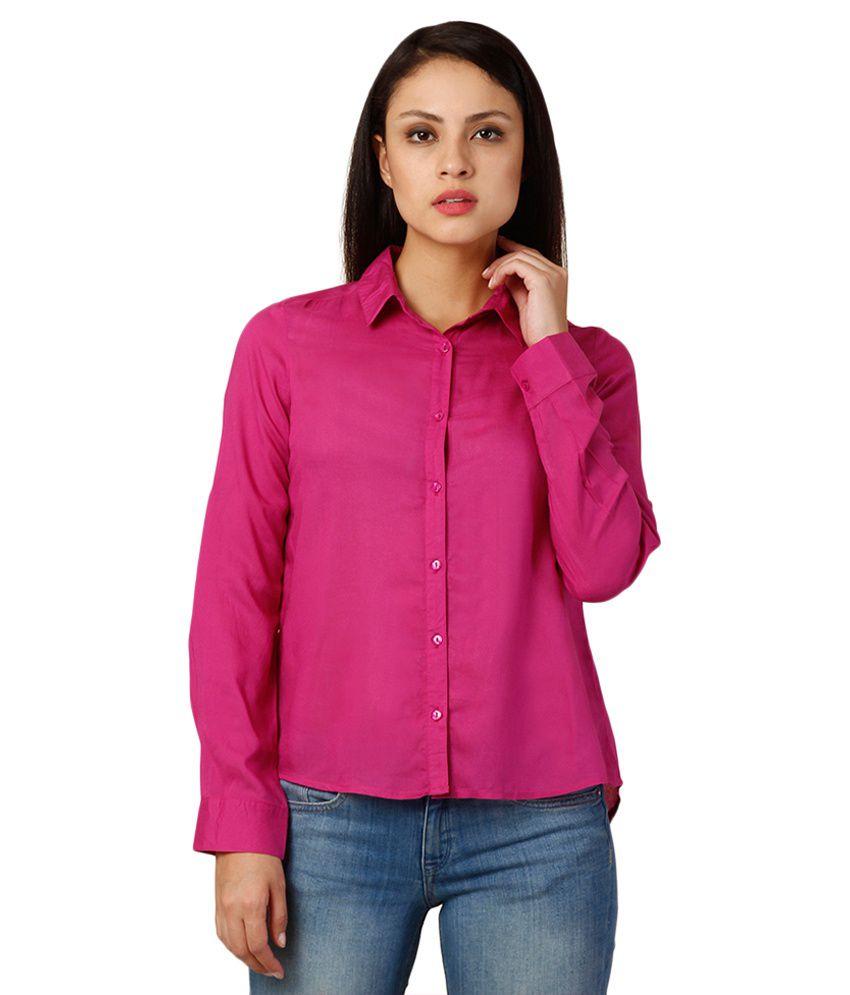 Oxolloxo Pink Viscose Shirt