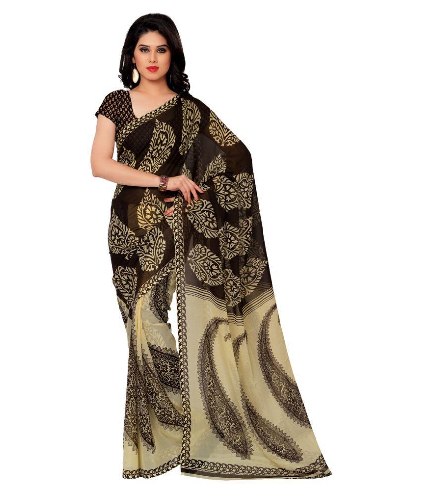 Resham Fabrics Multicoloured Georgette Saree