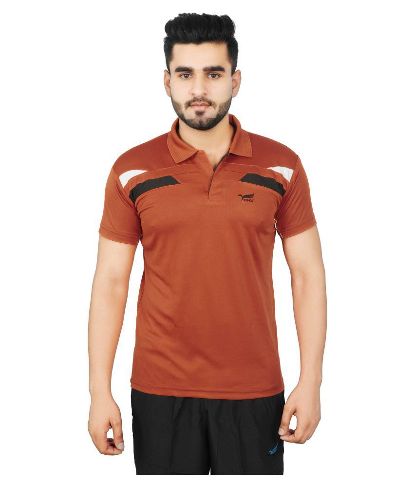 NNN Men's Copper Half Sleeves Dry Fit T-shirt