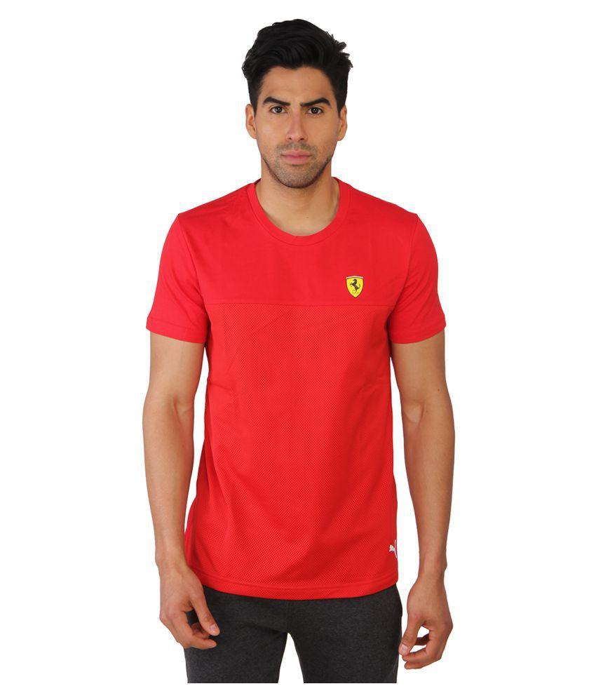 Puma Mens Solid Red T-shirt