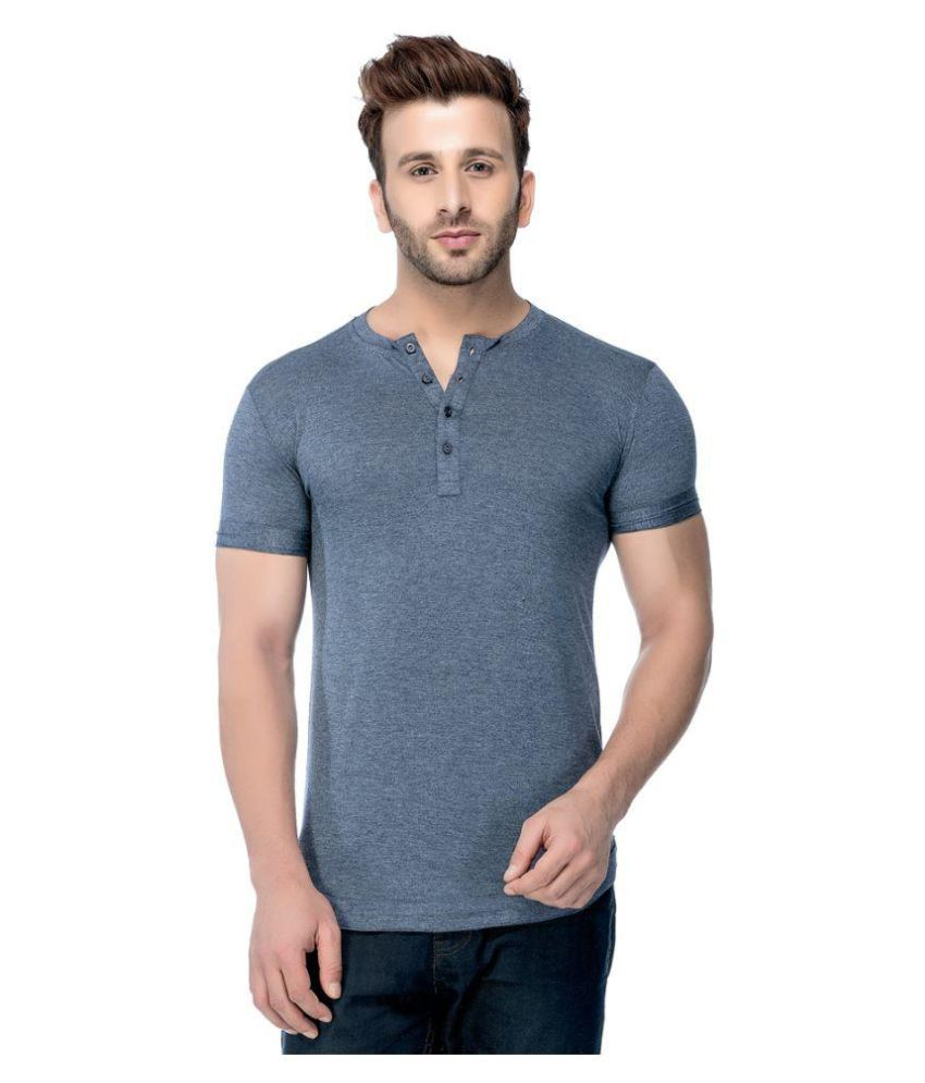 Tinted Navy Henley T-Shirt