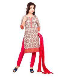 Cotton Culture Multicoloured Chanderi Straight Self Print Kurti