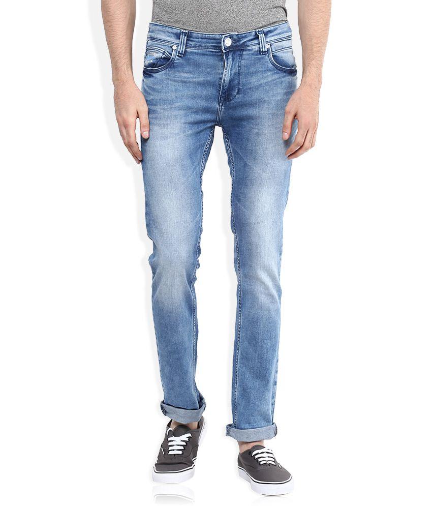 Integriti Blue Slim Fit Faded Jeans