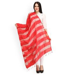 Sai Fashions Red Cotton Digital Printed Dupattas