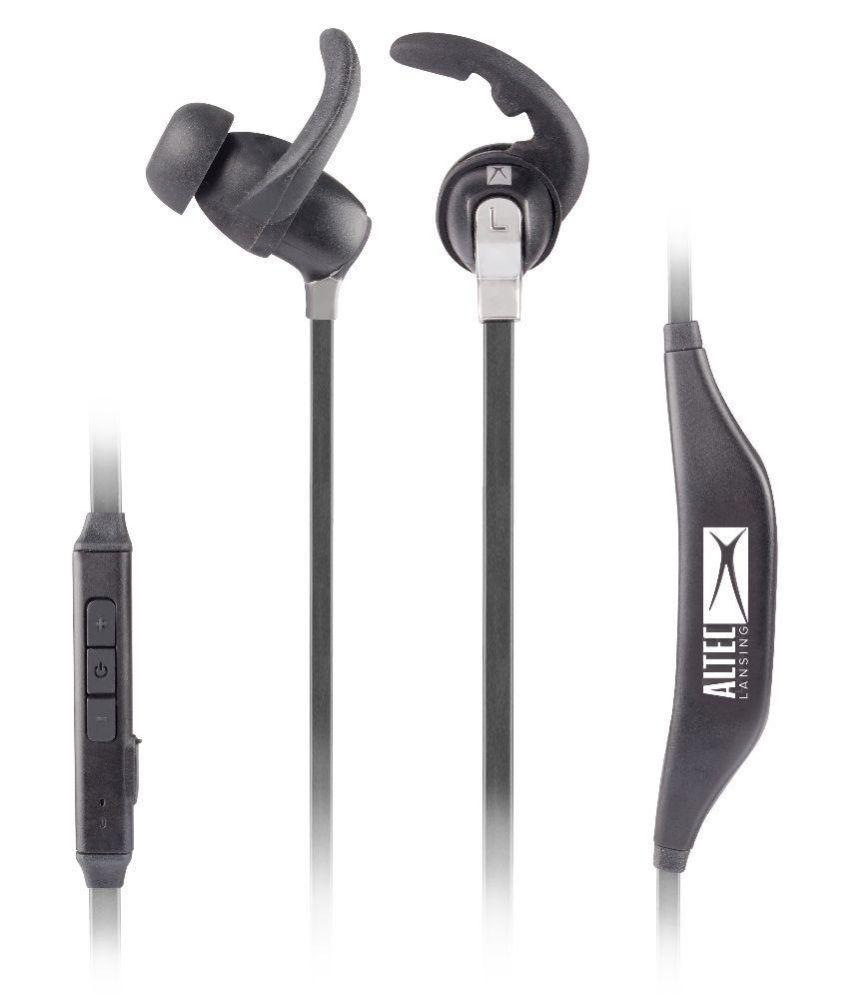 Altec Lansing MZW100 In Ear Wireless Earphones With Mic Black