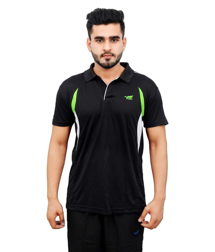 NNN Black Half Sleeves Dry Fit Men's T-shirt