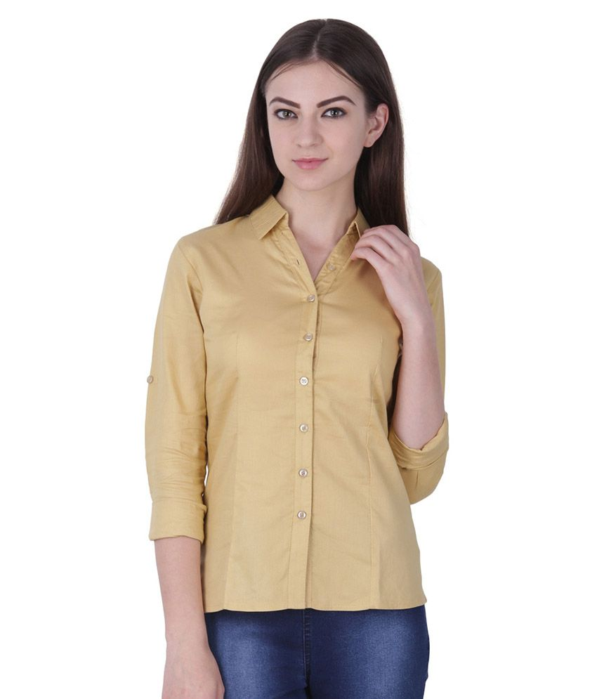 Protzen Beige Cotton Shirt