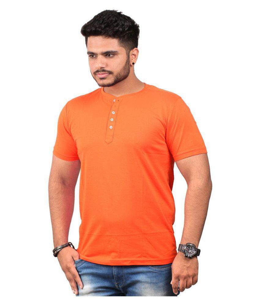 Abrazo Orange Henley T-Shirt