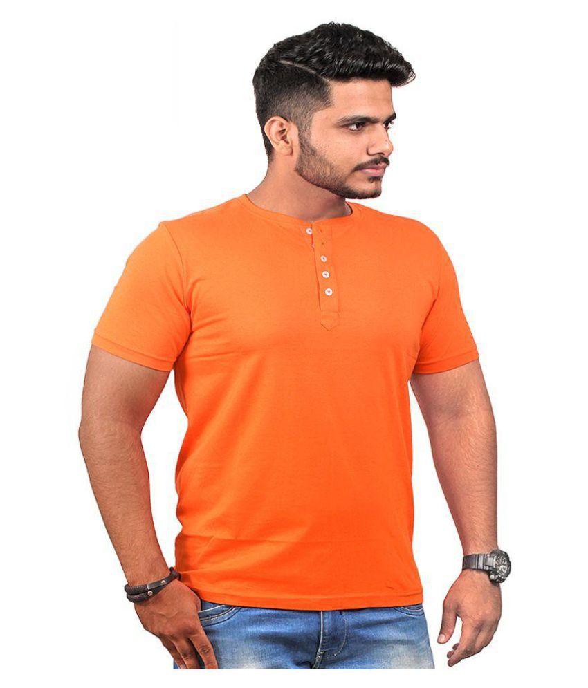 Abrazo Orange Henley T-Shirt